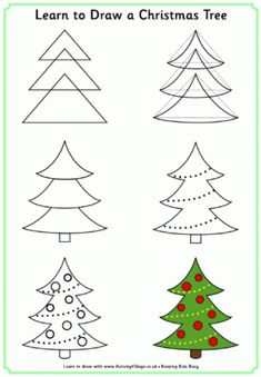 Learn to Draw a Christmas Tree and other Christmas themed printables.