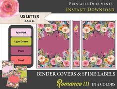 Printable Binder Covers & Spine Label Inserts  myunclutteredlife #BacktoSchool #BinderPrintable