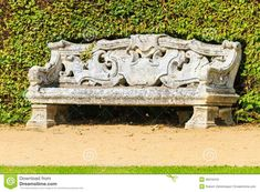 Ornamental English Garden With Stone Bench - Download From Over 34 Million High Quality Stock Photos, Images, Vectors. Sign up for FREE today. Image: 36316418