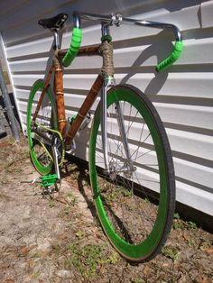Cool home made bamboo bike!