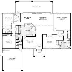 451cb7ce06880f3b8f90c63ce714ae7a house floor plans building plans contemporary home plan to wide lot three bedrooms, two living,Single Family Home Plans Designs