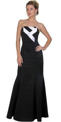 Vestido de Graduacion - Color Negro/Blanco