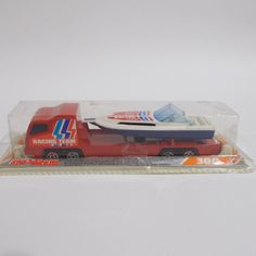 Majorette Racing Team Toy Transporter Truck Speed Boat Model 350 Hors Bori Made In France Speed Boats, Racing Team, Childhood Toys, Vintage Toys, Diecast, I Shop, Trucks, France, Cars