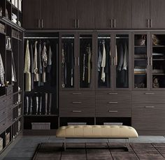 Divine walking closet designs you need to have. Thirty walking closet ideas for the perfect fashion wardrobe. Feed your design ideas now. Walk In Closet Design, Bedroom Closet Design, Master Bedroom Closet, Closet Designs, Bedroom Closets, Master Bedrooms, Dressing Room Design, Casa Clean, Walking Closet