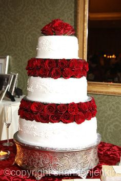 My Three Tiered Wedding Cake With Smooth Er Cream And Custom Piping That Matched The Detail