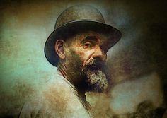 Old Man Painting - Old Man Fine Art Print - Chris Modarelli