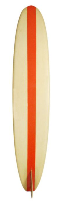 A vintage surfboard is great way to decorate a room by simply leaning against a wall.