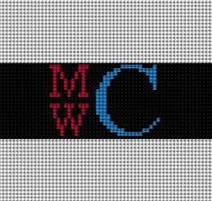 Needlepoint Belt Monogram Ideas