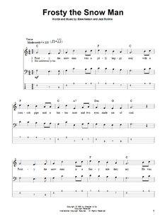 sheet music - Frosty the Snowman