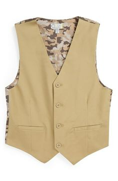 C2 by Calibrate 'Spencer' Stretch Cotton Vest (Big Boys) available at #Nordstrom
