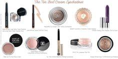 The Ten Best Cream Eyeshadows (Rank & Style top 10 list)