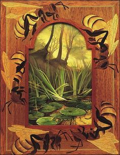 marquetry and painting by Kit Williams