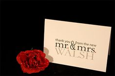 Wedding Invitations | Custom Wedding Invitations and Stationery - customisable wedding thank you cards