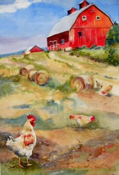Chicken a la King, painting by artist Kay Smith