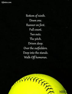 A Girl Can Dream It Just Depends On How Hard She Works For It To Become A Reality Softball Quotes Girls Softball Softball Cheers