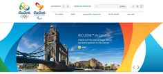 Rio 2016 Website Design & Logo just blows our London 2012 out the water. #logo #design #interface