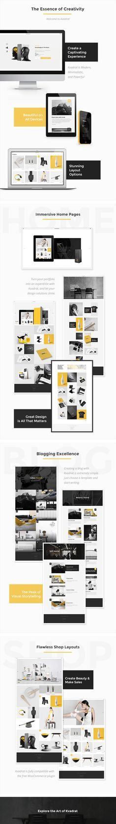 Kvadrat - Contemporary Portfolio - WordPress | ThemeForest