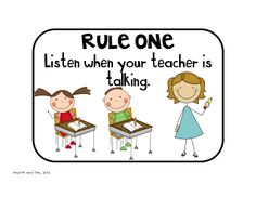 Classroom rules with blank background to customize