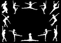 ballet & jazz dancers silhouette