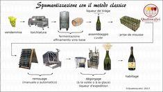 Metodo classico-Il Metodo Classicoè un sistema di spumantizzazione che si basa sul principio della rifermentazione in bottiglia e comprende diverse fasi in successione: A
