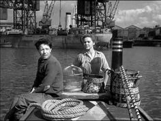 Painted Boats - Mary Smith and Alf Stoner head through the busy docks towards the Thames. Limehouse in E14.
