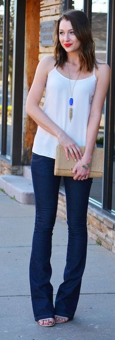Navy Flares Outfit Idea # Lenore Trends Of Spring Apparel Idea Navy Flares Flares Outfit Ideas Flares Outfit Idea How To Wear Flares Outfit Idea 2015 Flares Outfit Idea Where To Get Flares Outfit Idea How To Style Summer Wear, Summer 2015, Outfits For Teens, Cute Outfits, Baggage Claim, Street Style, Spring Trends, Closet Ideas, Clothing Styles