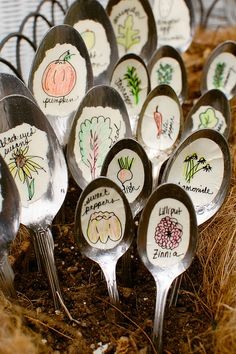 garden markers (for my garden this spring:)