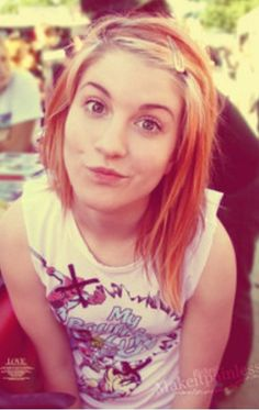 Young Hayley Williams...I have been trying to perfect this face for about a month now