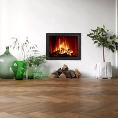 Open haard is genieten Decor, Fireplace, Home Decor