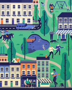 New piece I created for @London_Magazine about an ideal London neighbourhood http://www.owendavey.com/London-Magazine