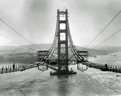 The Golden Gate Bridge During Construction Photo