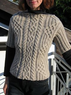 Ravelry: 11 Sweater with Cable Pattern pattern by Rebecca Design Team Aran Knitting Patterns, Cable Knitting, Knitting Designs, Knitting Yarn, Knit Patterns, Hand Knitting, Crochet Fall, Knit Crochet, Jumpers For Women
