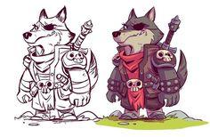 Derek Laufman. #conceptart #characterdesign #ruinworld #wolf #mangastudio #comics #indiecomics #webcomics #dereklaufman