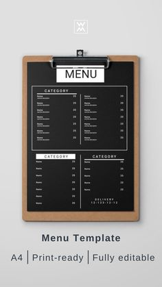 Menu design template   Шаблон дизайна меню Drink Menu Design, Cafe Menu Design, Menu Card Design, Cafe Shop Design, Restaurant Menu Design, Cafe Interior Design, Carta Restaurant, Menue Design, Coffee Shop Menu