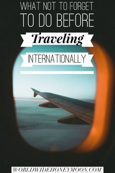 Pre-Travel Checklist: 11 Things to Do Before Traveling Internationally (Plus a Timeline)! – World Wide Honeymoon - international travel Travel Checklist, Travel Advice, Travel Guides, Honeymoon Checklist, Travel News, Travel List, Time Travel, Travel Packing, Travel Information