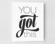 You Got This Print Fitness Poster by GirlFridayPaperArts on Etsy