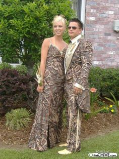 Prom - Camouflage    Undetectable amongst the wooded dance floor. (Via The Chive)