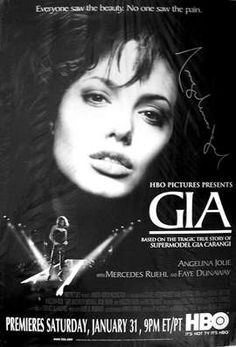 "Angelina Jolie as Gia... See the real Gia on my board ""What's on the Cover"""