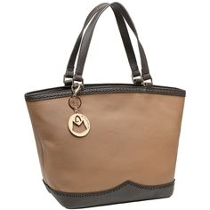 MG Collection RENATA Brown Double Handle Shopper Tote Style Shoulder Handbag. Beautifully designed leatherette tote bag perfect to be used as a shopper tote or weekender. Featuring 1 zippered pocket and 2 open pockets, the spacious interior is perfect for storing your keys, wallet, cell phone, makeup, and other traveling essentials. Includes an easily accessible exterior zippered pocket and two top handles for improved mobility. **Official MG Collection® product by MyGift® features…