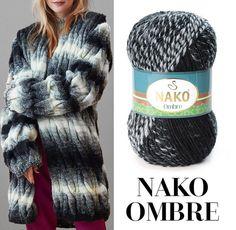 Nako Ombre ve Lalo Cardigans modeli sizce de birbirine çok yakışmıyor mu? Knitting Wool, Knitting Stitches, Wool Yarn, Crochet Yarn, Crochet Hooks, Yarn Cake, Rico Design, Chunky Yarn, Winter Hats