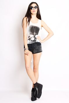 Rock Chic Fashion with Shorts