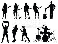Silhouette of musicians stock vector art 20682388 - iStock
