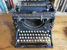 1917 Underwood Model No 5 Typewriter by sandgatesalvage on Etsy, $395.00