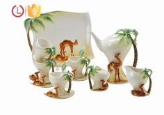 Porcelain enamel camel coconut tree design 16pcs Coffee tea set for home, View dinnerware set, YOU LAI FU Product Details from Shenzhen Youlaifu Household Company Limted on Alibaba.com