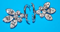 GIVENCHY Silvertone Cluster Drop Earrings