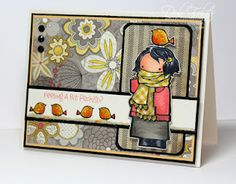 Loving all the patterns on this card by Deb Felts