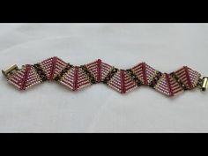 DIY-TAKI TASARIM YARASA BİLEKLİK /STYLISH BRACELET - YouTube Bangle Bracelets, Beaded Bracelets Tutorial, Beading Tutorials, Beaded Embroidery, Seed Beads, Beaded Jewelry, Jewelry Making, Pattern, Necklaces