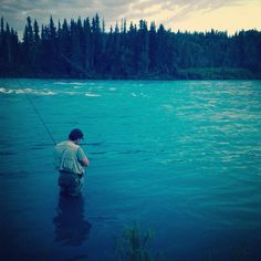 Fishing for reds in Southcentral Alaska.