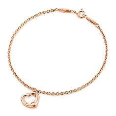 Elsa Peretti® Open Heart bracelet in 18k rose gold. $585 Tiffany .