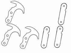 Blueprint gravity hook by on DeviantArt Homemade Weapons, Homemade Tools, Pvc Pipe Projects, Welding Projects, Life Hacks Youtube, Axe Sheath, Knife Template, Grappling Hook, Knife Patterns